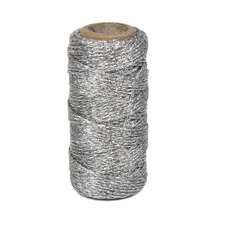 Touw - zilver lurex