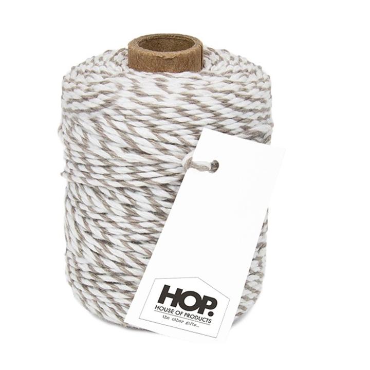 Touw - grijs wit, HOP