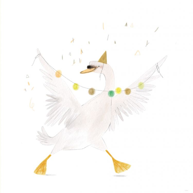 Kaart Feestelijk zwaantje, Ruth Hengeveld