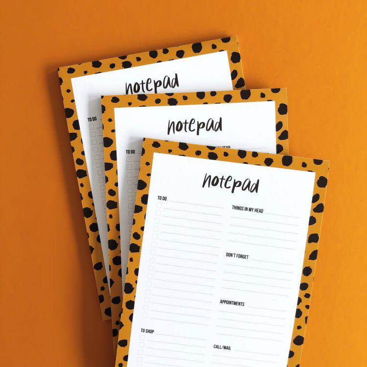 A5 Notepad cheetah, Studio Stationery