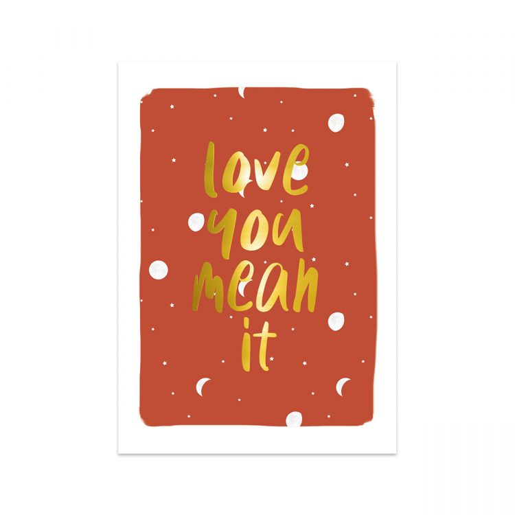 Kaart love you mean it, Studio Stationery