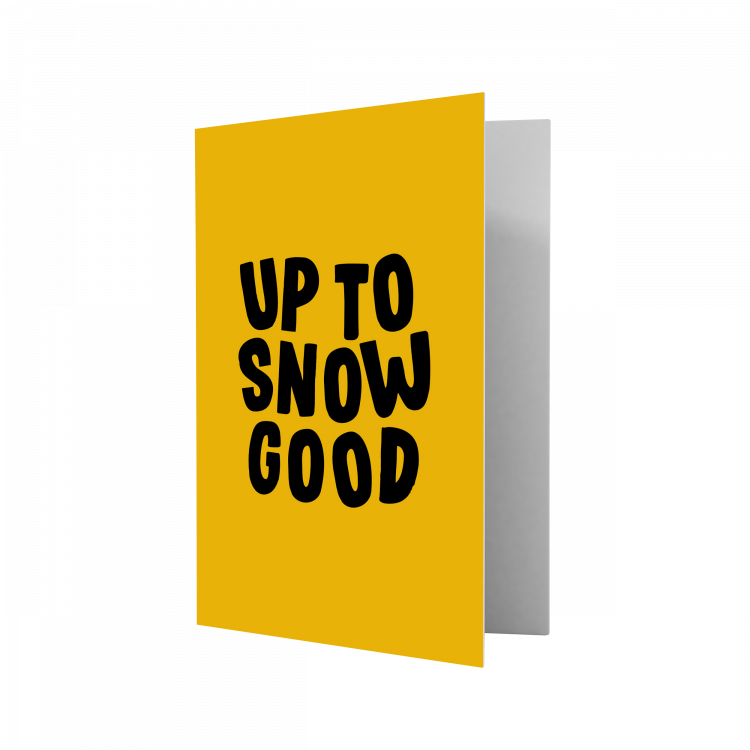 Kerstkaart Up to snow good, Studio Stationery