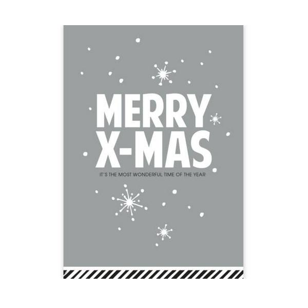 Kerstkaart Merry X-Mas (CWH)