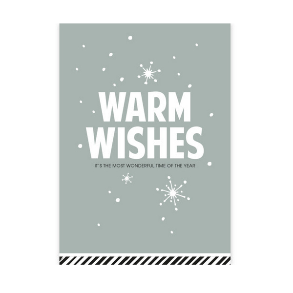 Kerstkaart Warm Wishes (CWH)