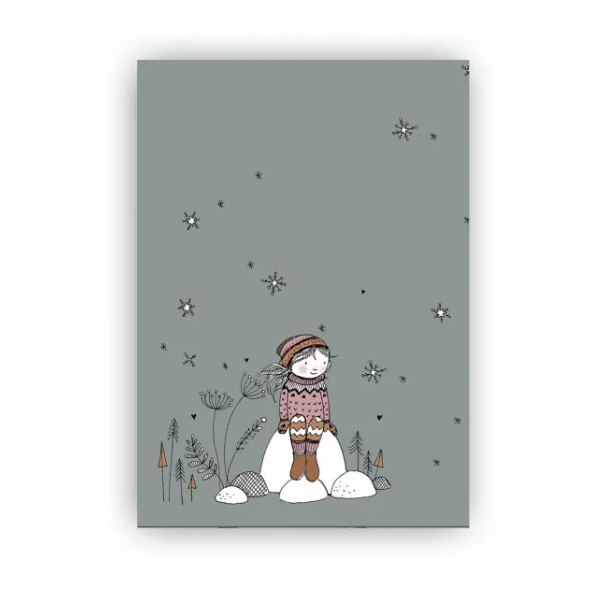 Kaart wintermeisje, Marieke ten Berge
