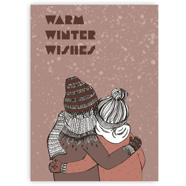 Kaart Warm Winter Wishes, Marieke ten Berge