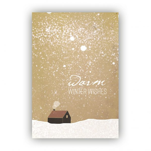 Kaart Winter wishes huisje, Marieke ten Berge
