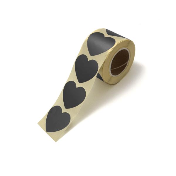 Sticker hart zwart groot of klein