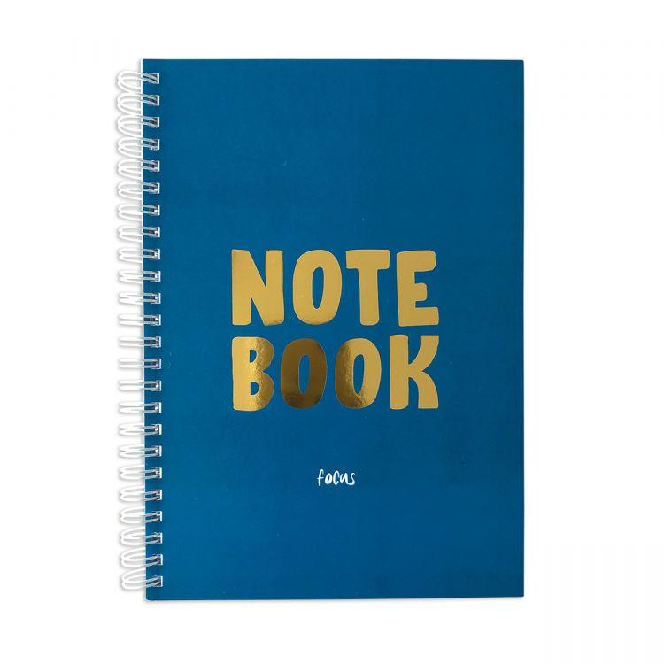 Notitieboek Notebook blauw-goud, Studio Stationery