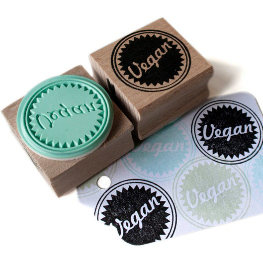 Vegan stempel, Miss Honeybird