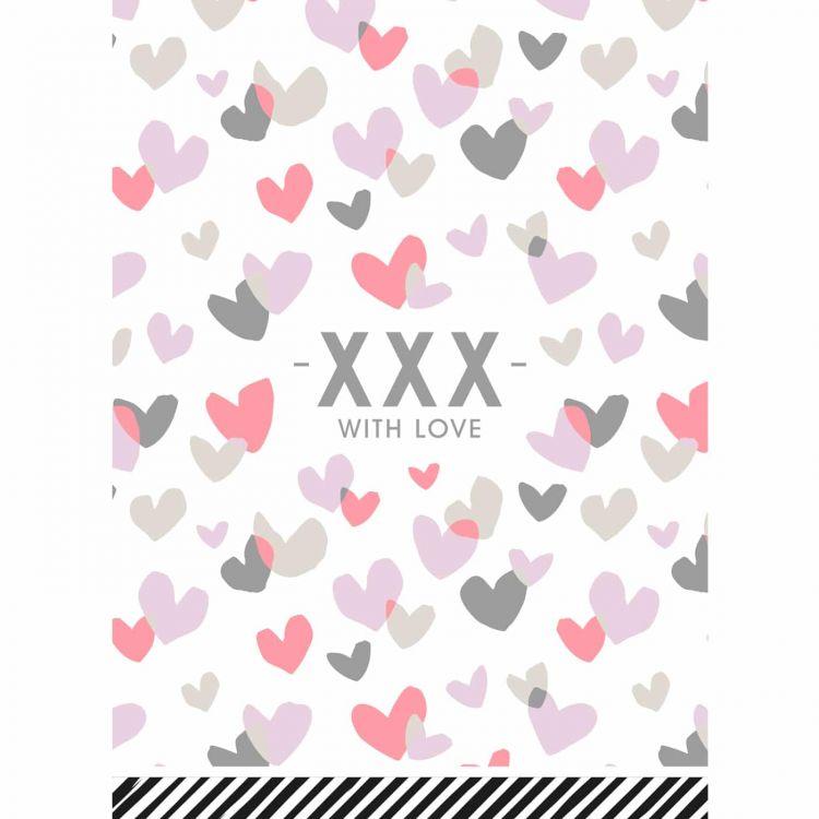 A6 kaartje XXX wth love