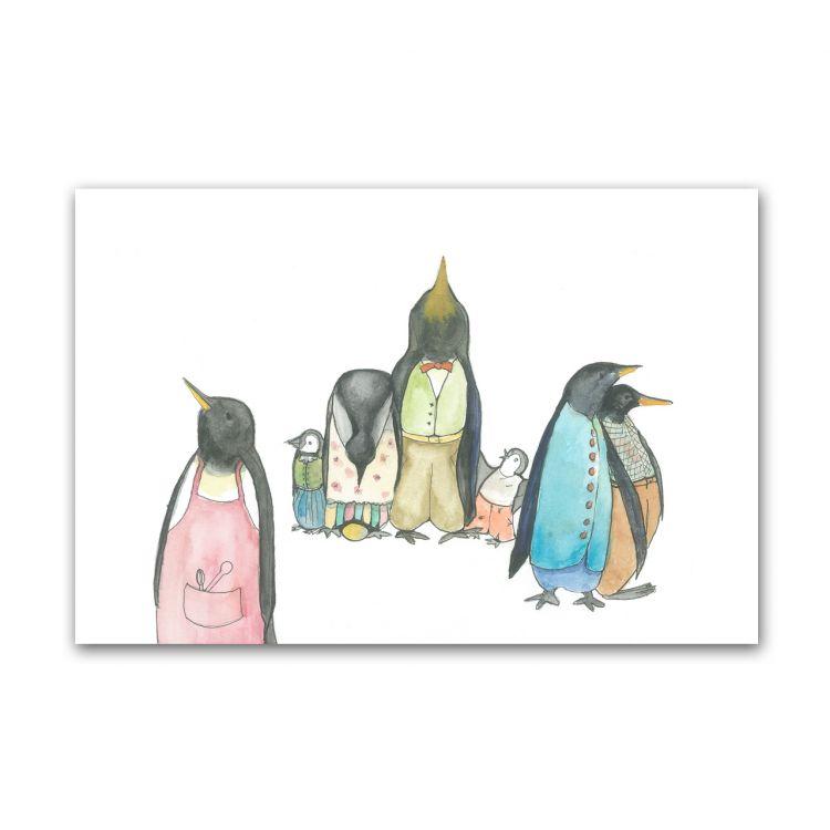Kaart pinguinfamilie, Fantasiebeestjes