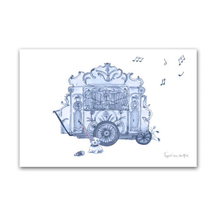 Kaart Hollands blauw draaiorgel, Fanatasiebeestjes