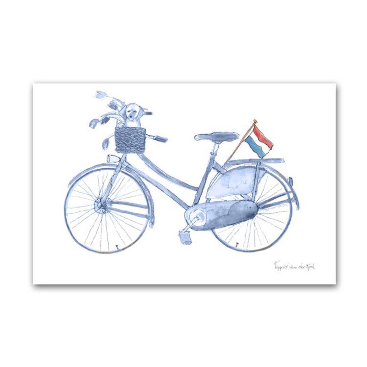 Kaart Hollands blauw fiets, Fanatasiebeestjes