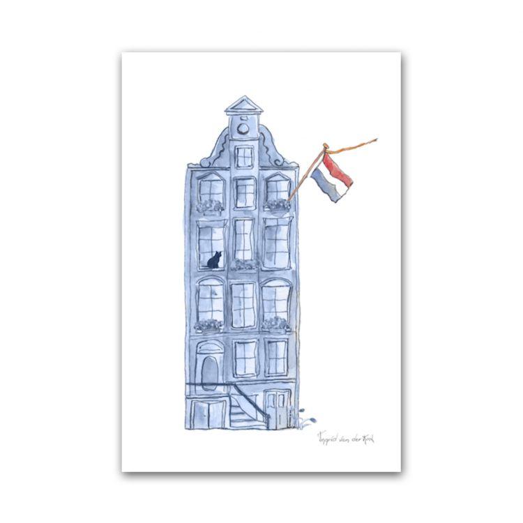 Kaart Hollands blauw huisje, Fanatasiebeestjes