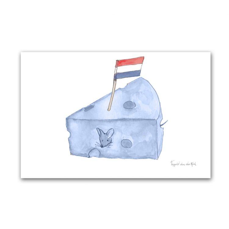 Kaart Hollands blauw kaas, Fantasiebeestjes