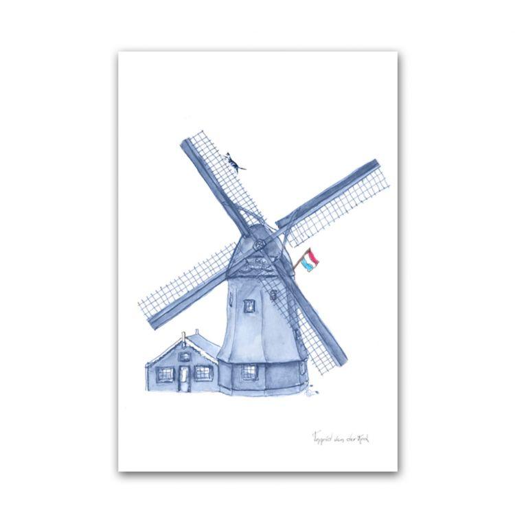 Kaart Hollands blauw molen, Fanatasiebeestjes