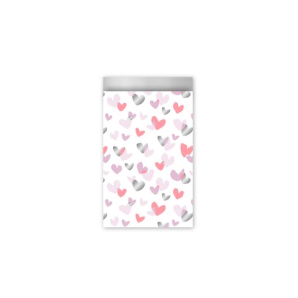 Zakjes gekleurde hartjes (klein)