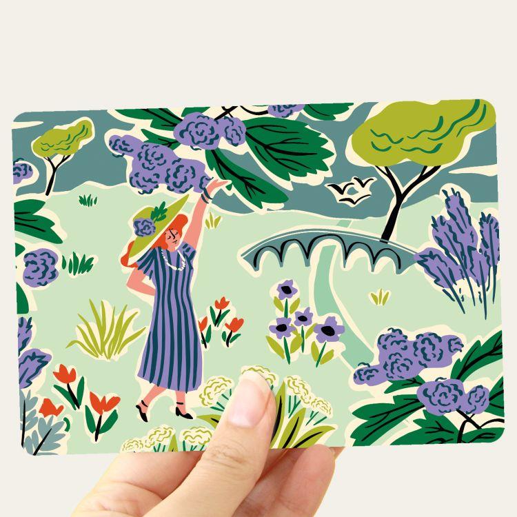 Kaart English garden, Marijke Buurlage