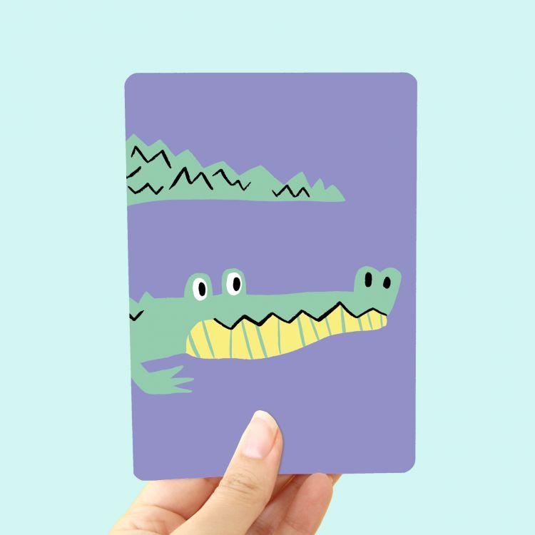 Kaart Krokodil, Marijke Buurlage