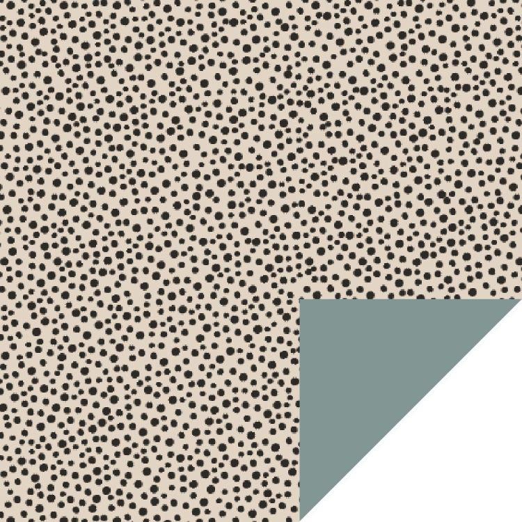 Cadeaupapier beige dots (HOP)