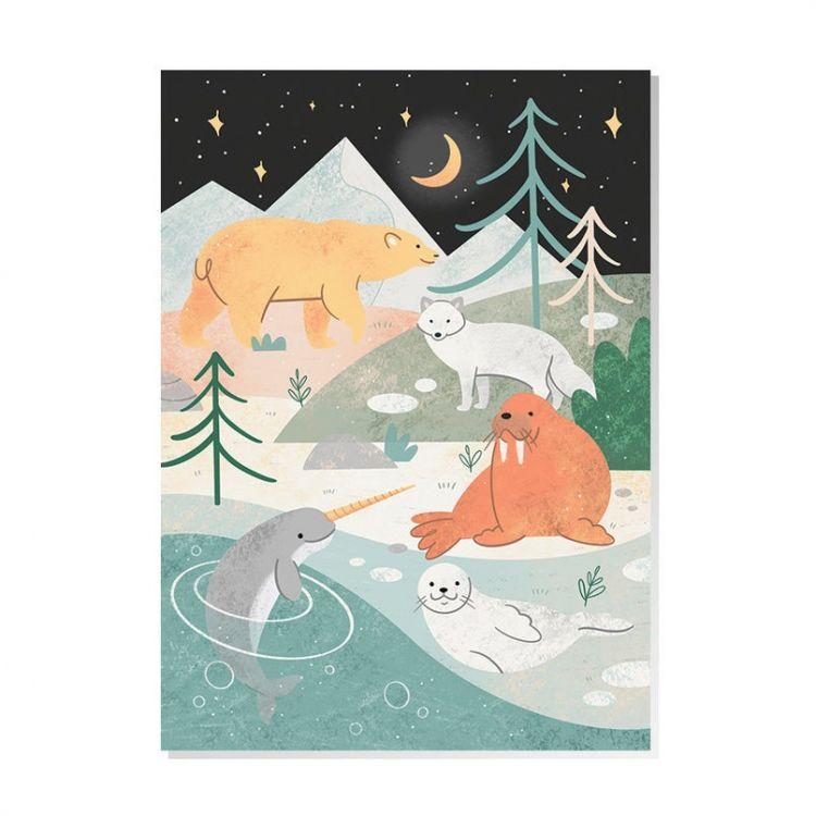 Kaart Noordpool dieren, Mila-made