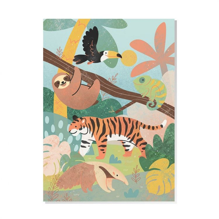 Kaart Jungle dieren, Mila-made