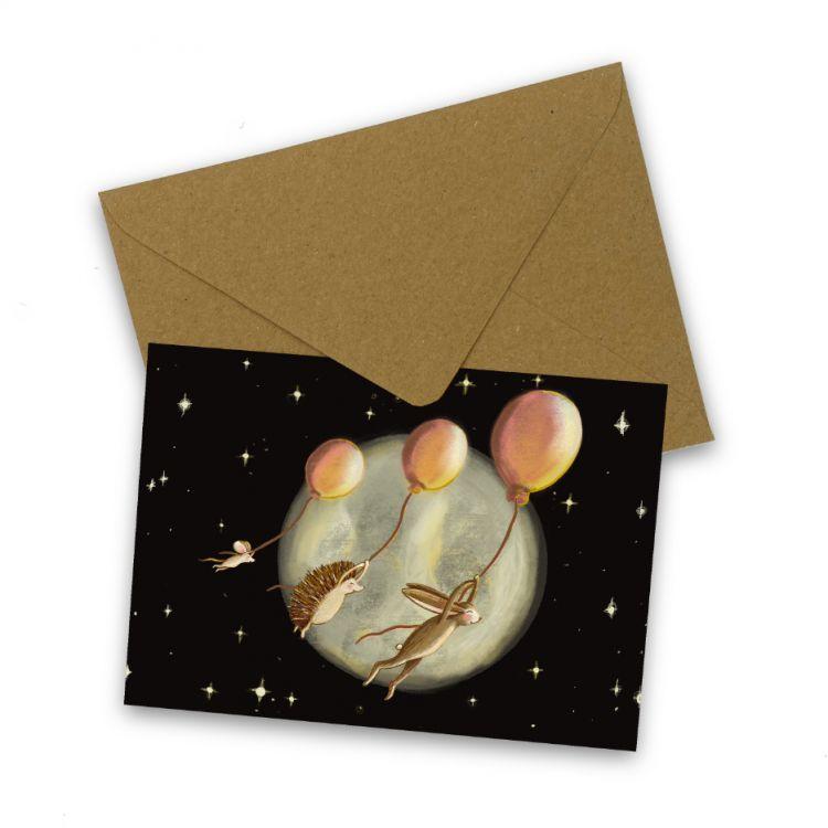 Kaart vliegen naar de maan, Esther Bennink