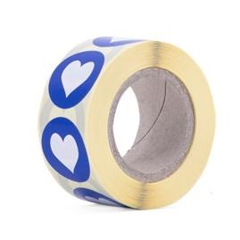 Sticker mint-babyroze-babyblauw-rood hartje