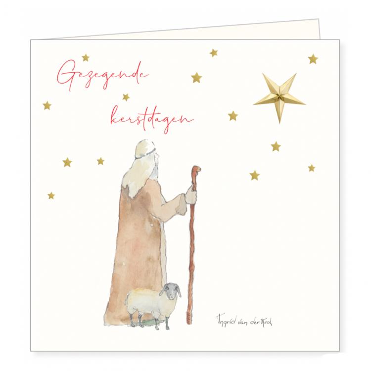Kerstkaart Betlehem, Ingrid van der krol