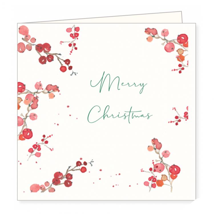 Kerstkaart besjes, Ingrid van der krol