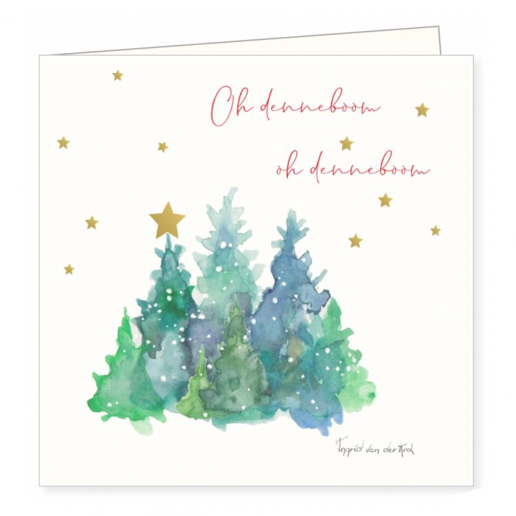Kerstkaart Oh Denneboom, Ingrid van der krol