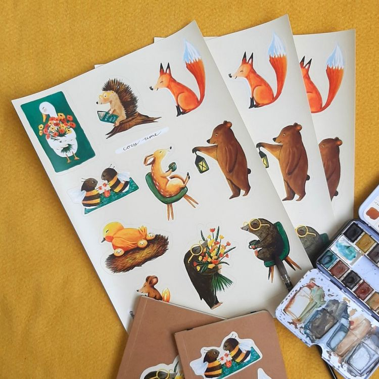 Stickervel dieren, Esther Bennink
