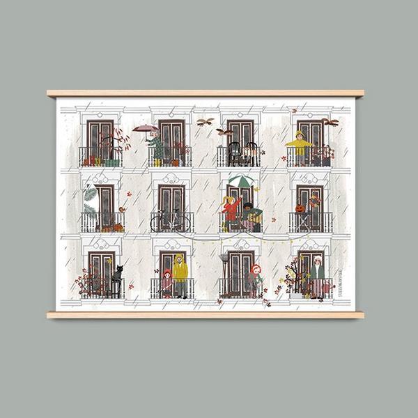 A4 poster Herfst, Studiozwaanstraat