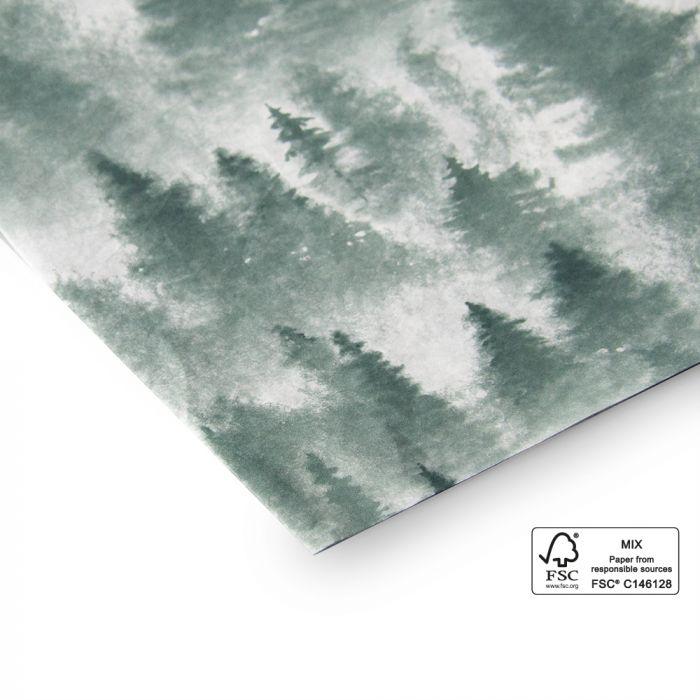 Vloeipapier (kerst)bomen