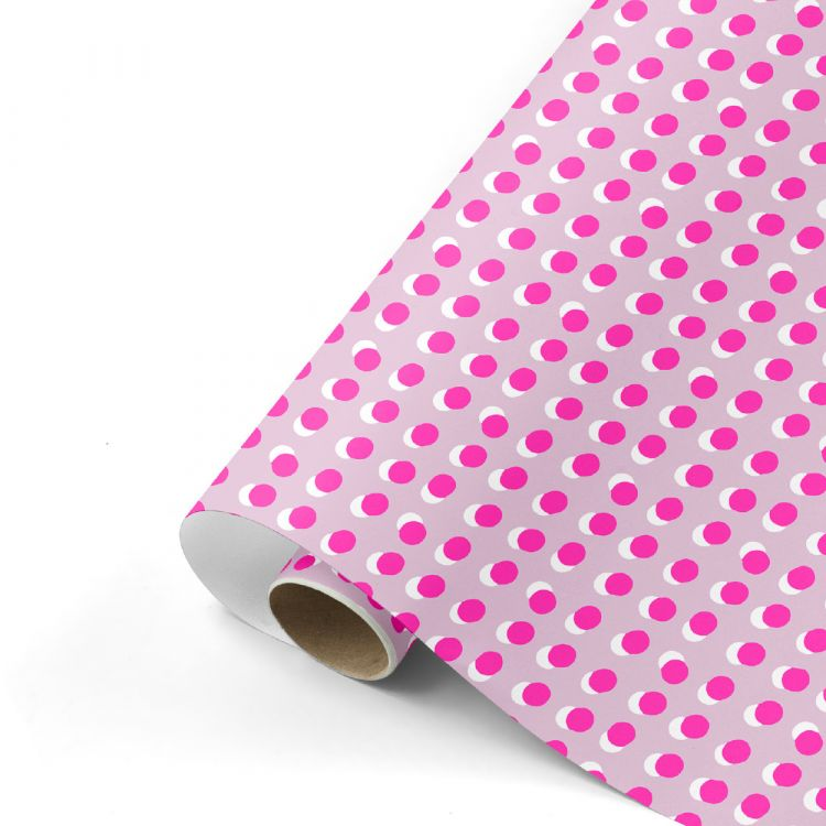 Cadeaupapier dots rose/neon, Studio Stationery