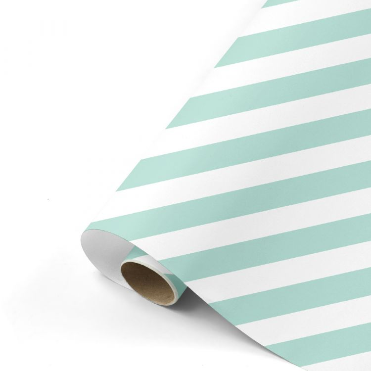 Cadeaupapier mint/wit streep, Studio Stationery