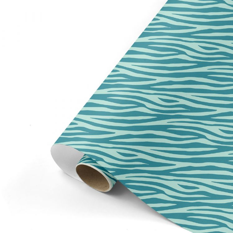 Cadeaupapier zebra mint, Studio Stationery