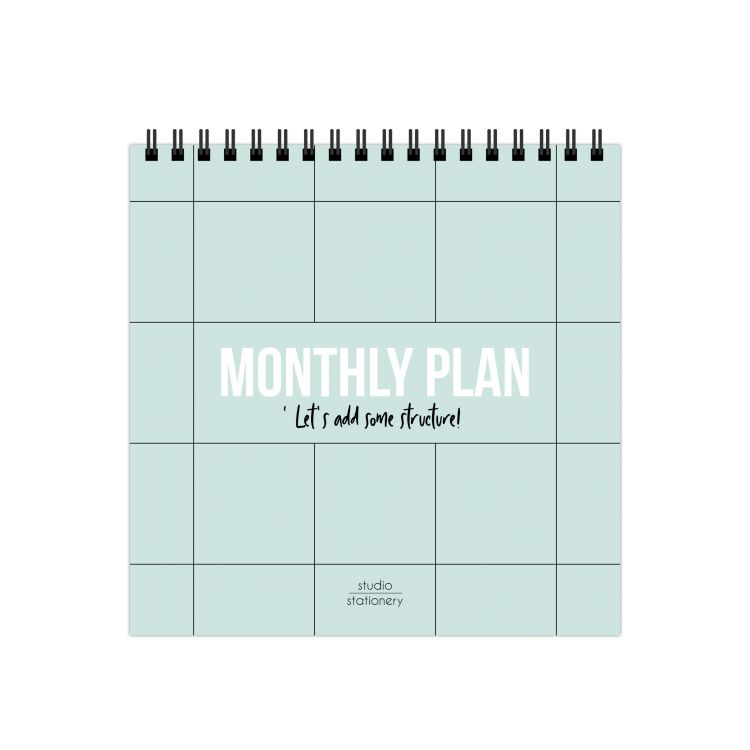 Monthly plan bureaukalender, Studio Stationery