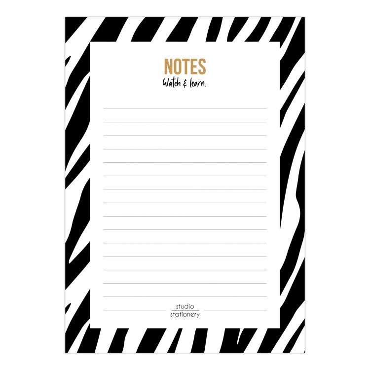 A6 notes blok zebra watch & learn, Studio Stationery