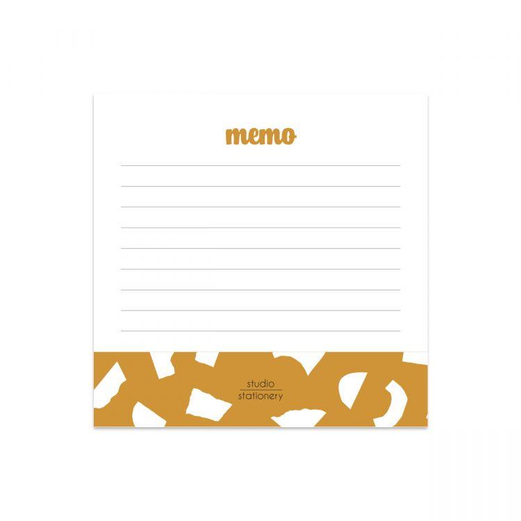 Mini memoblok oker confetti, Studio Stationery