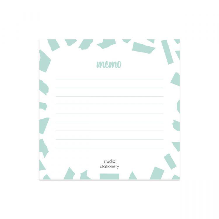 Mini memoblok mint confetti, Studio Stationery