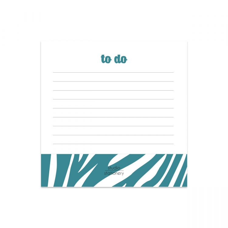 Mini memoblok to do blauw zebra, Studio Stationery