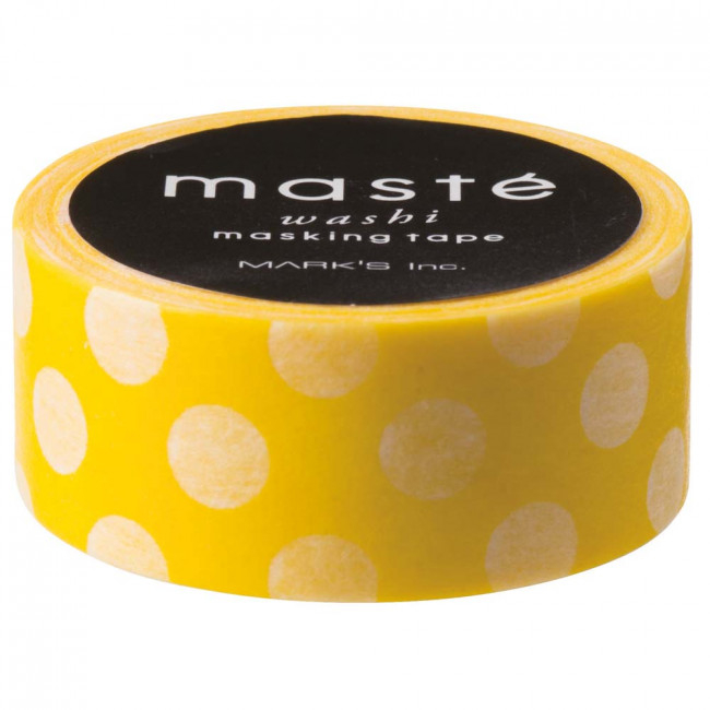 Geel maskingtape met witte dot, Masté