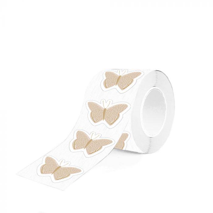 Sticker vlinder goud