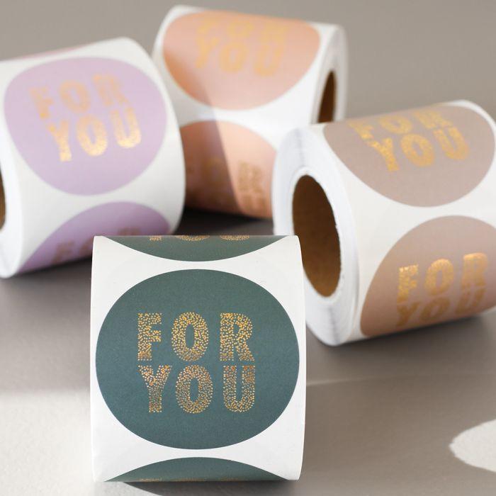 Sticker for you in 4 kleuren