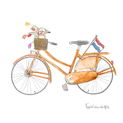Minikaartje Hollandse fiets, Ingrid van der Krol