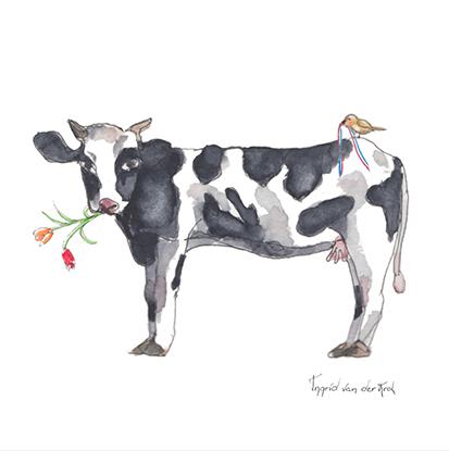 Minikaartje Hollandse koe, Ingrid van der Krol