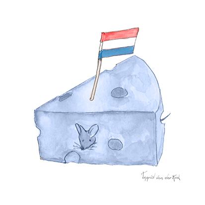 Minikaartje Hollands blauw kaas, Ingrid van der Krol