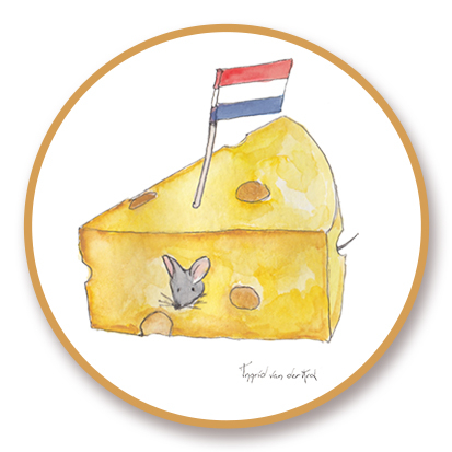 Sticker Hollands kaas, Ingrid van der Krol